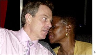 Tony Blair with Foreign Office Minister Baroness Amos