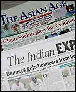 Indian newspaper headlines