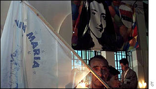 Vigil for abducted Colombian politician Ingrid Betancourt