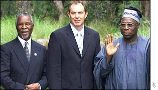 Thabo Mbeki, Tony Blair and Olusegun Obasanjo