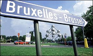 A signpost for Brussels