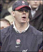 Clive Woodward watches England lose to Scotland in 2000