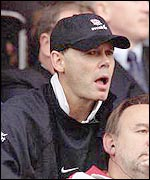 Clive Woodward watches England go down to Ireland last autumn