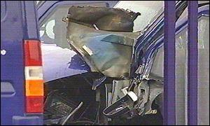 Damage to the Securicor van