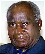 First Zambian president, Kenneth Kaunda