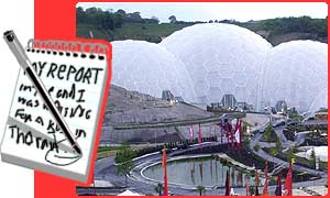 Eden Project in Cornwall where they were filming the latest Bond film