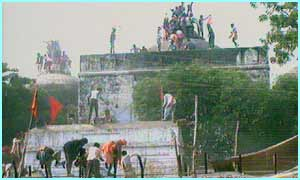 Rioting in Ayodhya over a mosque