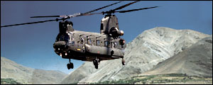 US Chinook helicopter