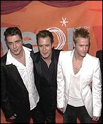 Three members of Westlife at Irish Music Awards ceremony