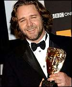 Crowe at the Baftas