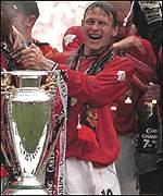 Teddy Sheringham in his Man United days