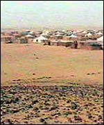Tent city in Western Sahara