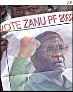 Zanu-PF supporters at a rally