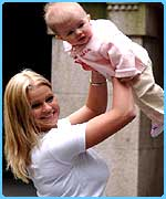 Kerry with baby Molly