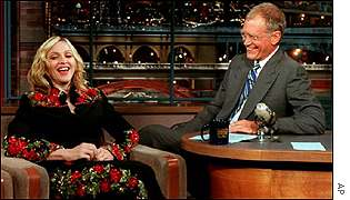Letterman has star guests including Madonna