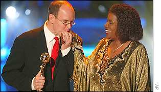 Prince Albert and Gloria Gaynor