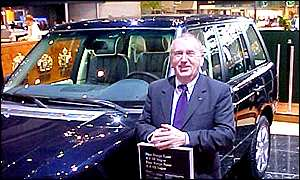 Land Rover managing director Bob Dover at the International Motor Show in Geneva