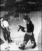 Camera still showing the Columbine killers