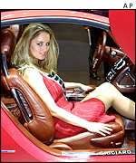 Model seated in the Alfa Romeo Brera