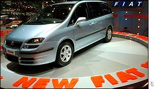 Fiat Ulysse launch at the International Motor Show in Geneva