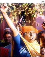 The VHP's women supporters at a rally