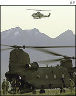 US helicopters in action