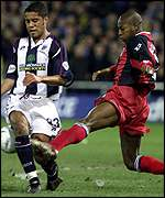 Luis Boa Morte challenges Adam Chambers