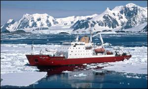 RRS James Clarke Ross in Antarctica, Bas