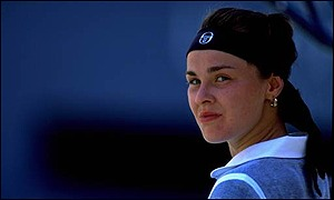 Martina hingis practising - 2 part 9