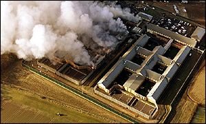 Yarl's Wood detention centre on fire