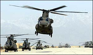 US troop helicopters in Afghanistan this week