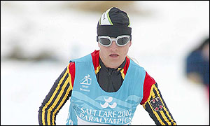 Verena Bentele won gold in the women's B1 visually impaired