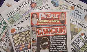 Sunday People and other newspapers