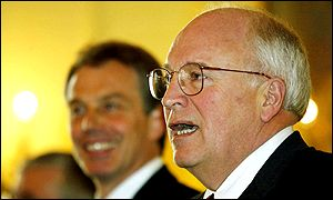 Tony Blair (left) and Dick Cheney