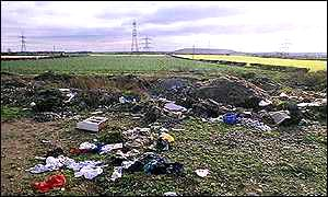Fly-tipping has become a major eyesore in many areas