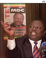 MDC candidate Morgan Tsvangirai