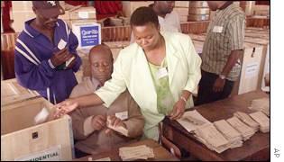 Zimbabwe election officials verify army postal votes