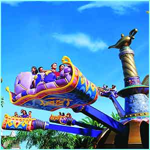 The Flying Carpets over Agrabah in the Animation Courtyard let you be part of a film set