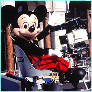 That's a familiar face! Mickey Mouse get behind the camera
