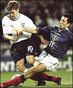 Michael Owen helps England defeat Scotland in the Euro 2000 qualifiers