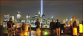 The light tribute from Brooklyn Promenade
