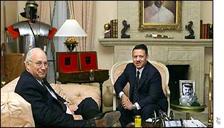 US Vice-President, Dick Cheney (left] meeting King Abdullah