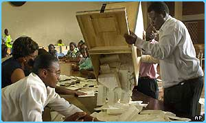 Votes are counted in the Zimbabwe elections