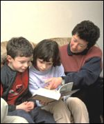 A family reads