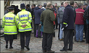 Police officers in Westminster