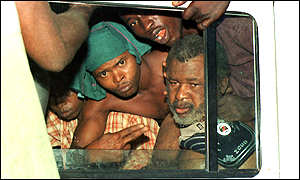 Foday Sankoh shortly after his capture