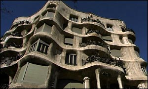 A building design by Antoni Gaudi