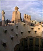 A building designed by Antoni Gaudi