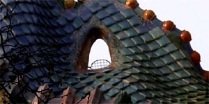 Casa Batllo house; roof detail