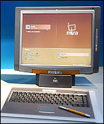The display is detachable on this Mira PC, MS